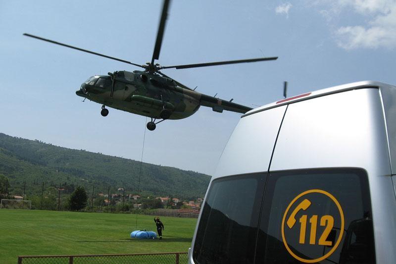 Helikopter prevezao pacijente u Split