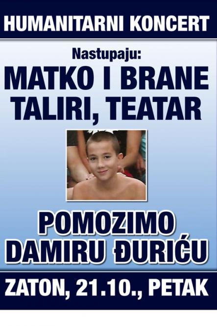 U petak koncert za Damira Đurića