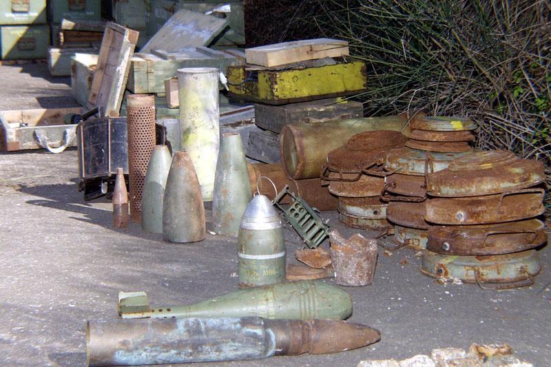 Odbačena minsko-eksplozivna sredstva