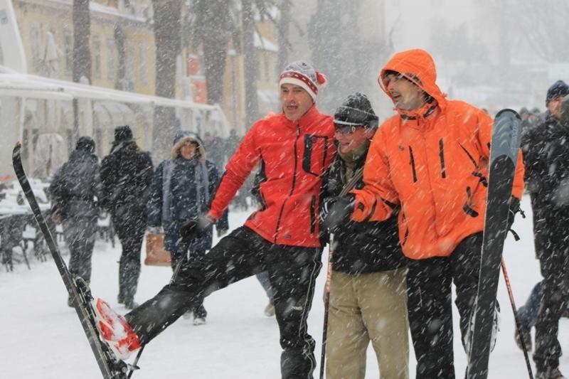 FOTO: Snježne radosti u Splitu