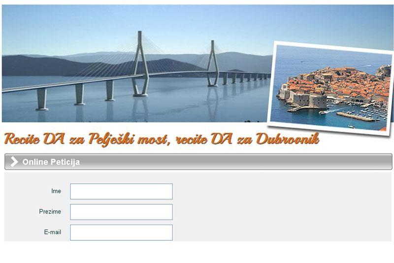 U 24 sata preko 1000 potpisa za Pelješki most!