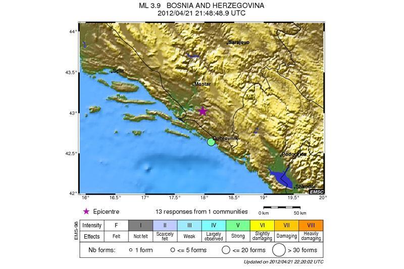 Potres uznemirio Dubrovčane