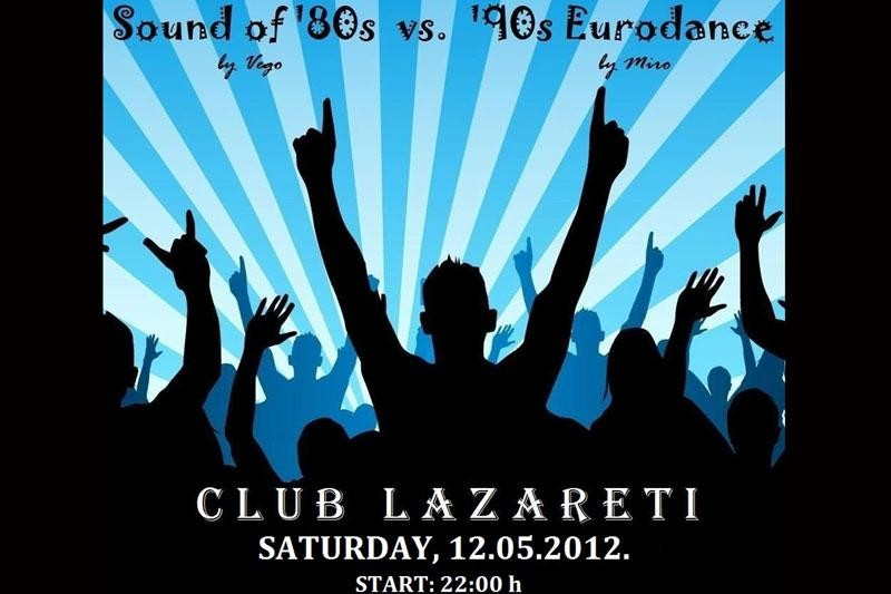 "U subotu ""Sound of 80s vs 90s Eurodance"""