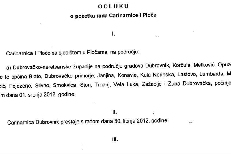 PRVI DONOSIMO Ukinuta Carinarnica Dubrovnik!