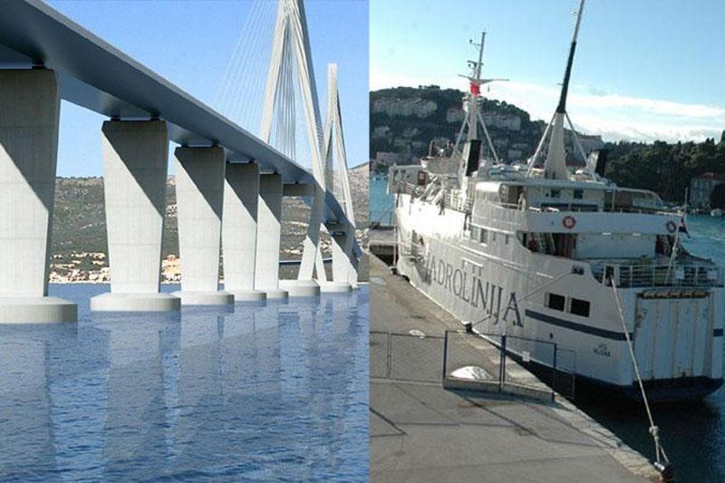 Prosvjed Dubrovnik regije – most vs. trajekti