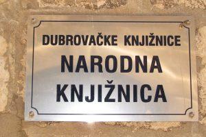 MJESEC HRVATSKE KNJIGE Čitanje dubrovačke arhitekture @ Čitaonica Narodne knjižnice Grad