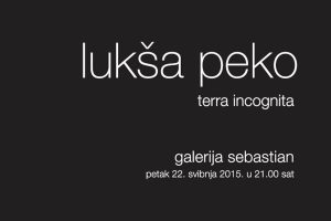 Terra incognita - Lukša Peko @ Galerija Sebastian | Dubrovnik | Dubrovačko-neretvanska županija | Hrvatska