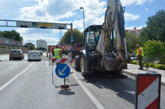PRIPREMITE SE NA GUŽVE Privremena prometna regulacija u Ulici Vladimira Nazora