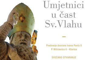 IZLOŽBA ''Umjetnici u čast Sv.Vlahu'' @  Dvorani Ivana Pavla II.