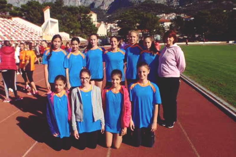 Atletičarke iz OŠ 'Lapad' izborile nastup na državnom prvanstvu