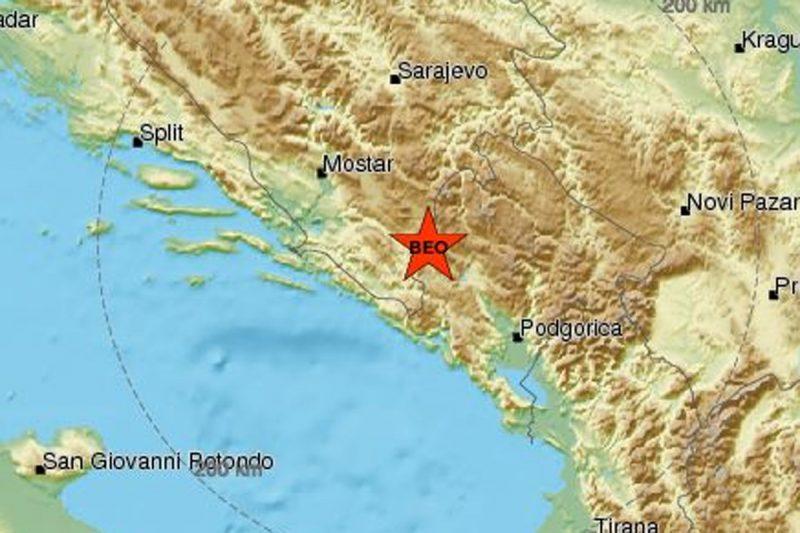 Potres magnitude 4,2 po Richteru pogodio Crnu Goru, osjetio se i u Dubrovniku