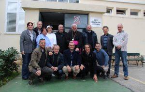 FOTO Biskup Mate Uzinić posjetio Muški učenički dom u Gružu