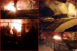 FOTO U Čibači u potpunosti izgorjelo auto!