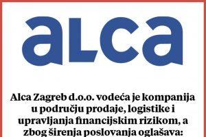 Alca Zagreb d.o.o. oglašava osam radnih mjesta u Dubrovniku
