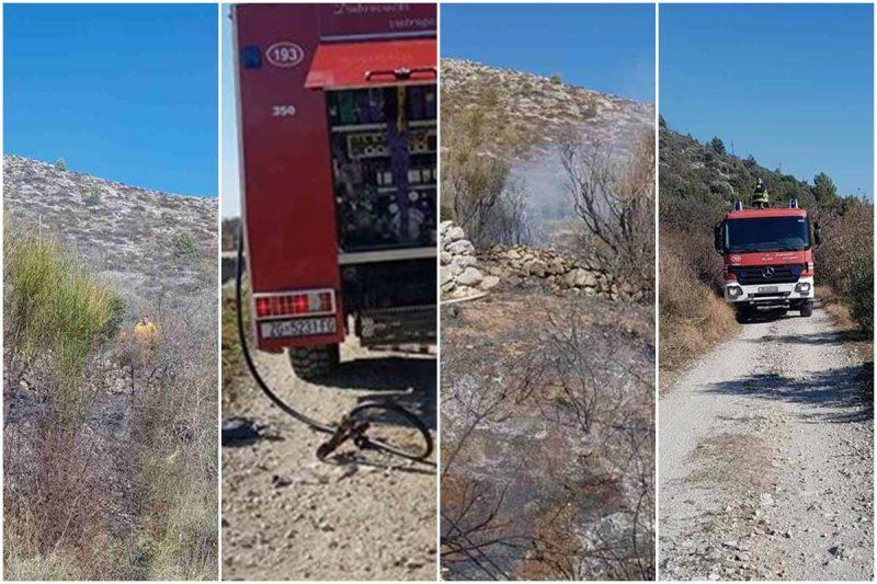 FOTO Vatrogasci brzom intervencijom riješili požar na predjelu Konjevac