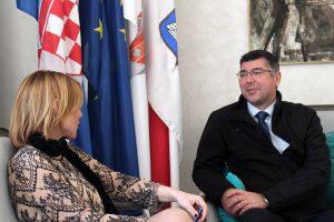 Kapetan Pero Kulaš upoznao povjerenicu Medović s planovima Luke Dubrovnik