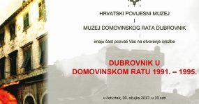Izložba 'Dubrovnik u Domovinskom ratu 1991. – 1995.' gostuje u Hrvatskom povijesnom muzeju