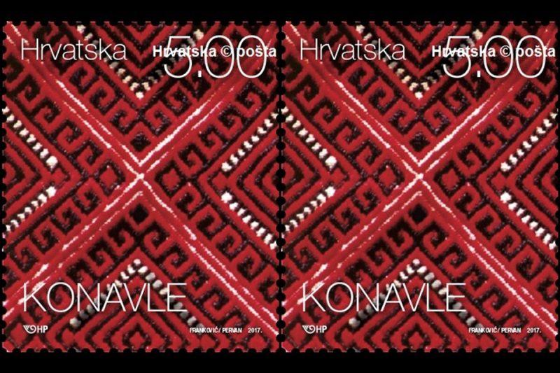 NE IZLAZI IZ MODE Konavoski vez kao motiv na novim poštanskim markama