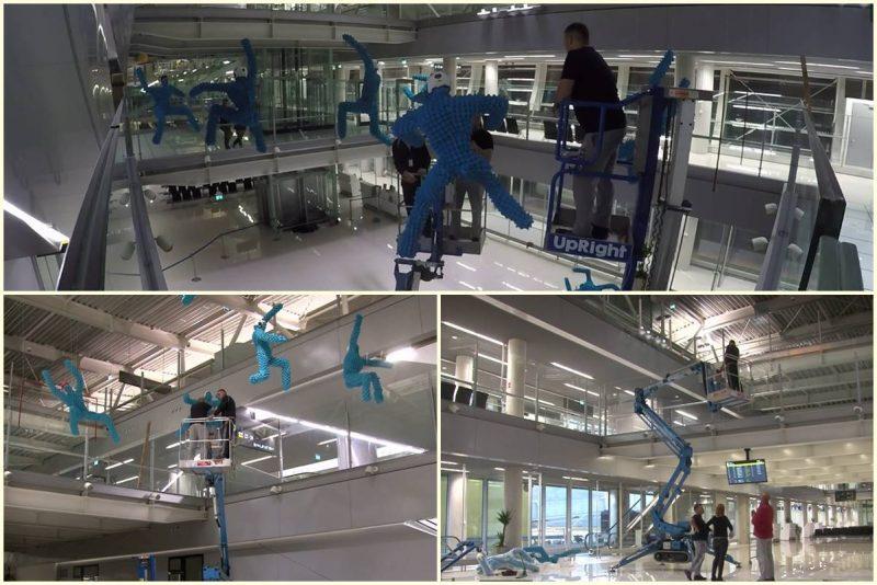 ZANIMLJIV VIDEO Postavljanje skulptura 'Igra i igre' na novom terminalu!