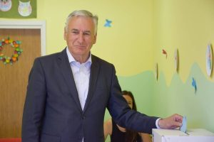 Nikola Dobroslavić glasovao u Slanome