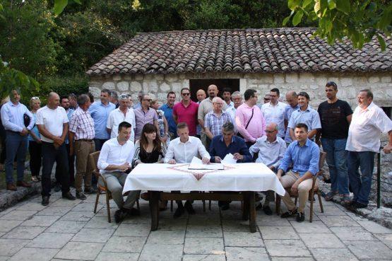 Konavoski HDZ i HSS potpisali koalicijski sporazum