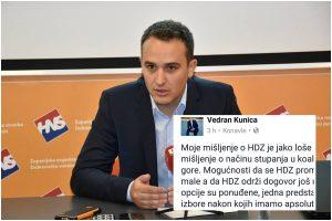 KUNICA ZA KOALICIJU HDZ-HNS 'Dok postoji i najmanja šansa za bolju Hrvatsku bit ću podrška '