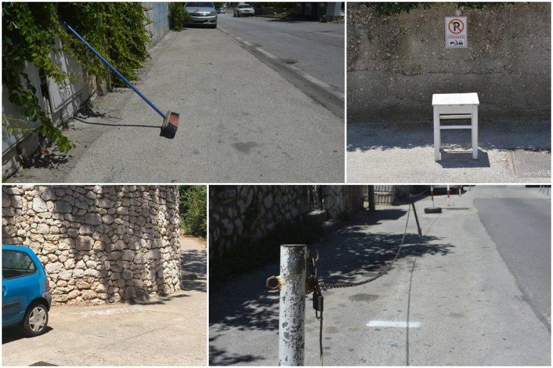 GRAĐANI UZURPIRAJU JAVNE POVRŠINE Do parkinga stolicama, metlama, kaučima…