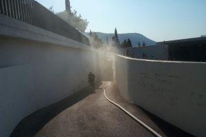 FOTO U strojarnici Kompasa izbio požar