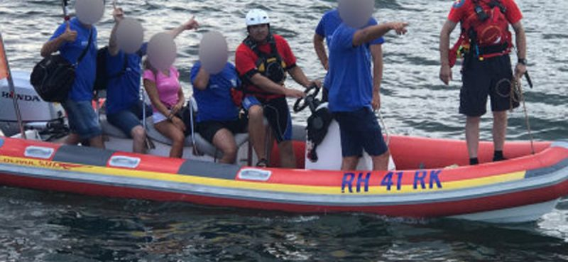 HGSS DUBROVNIK Na ušću Neretve evakuirali putnike s nasukanog broda