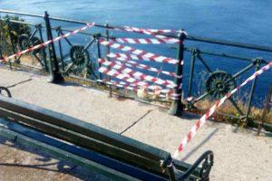 BRAVO KOMUNALCI Dio ograde koji nedostaje na Boninovu označen trakom, popravak u nakraćem mogućem roku