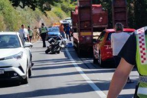 TEŠKA PROMETNA NESREĆA NA MAGISTRALI Poginula vozačica motocikla