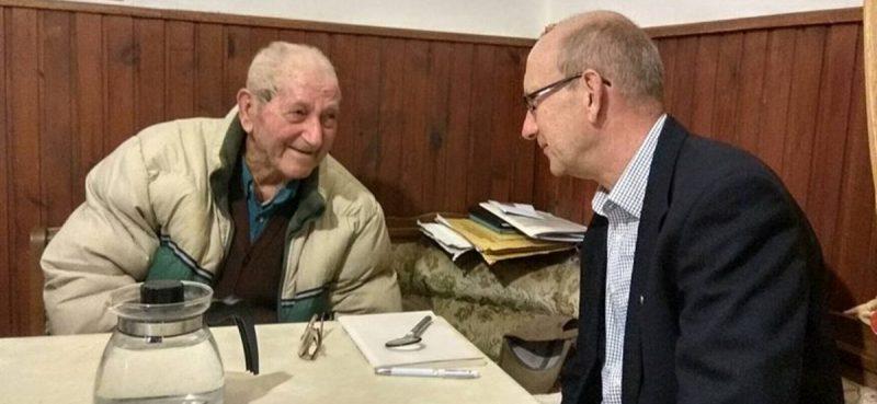 TEK SU MU 102 Načelnik Božo Lasić posjetio najstarijeg Konavljanina