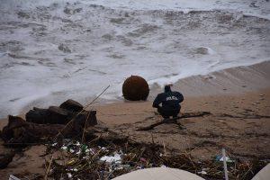 FOTO More na Banje izbacilo protubrodsku minu iz Drugog svjetskog rata