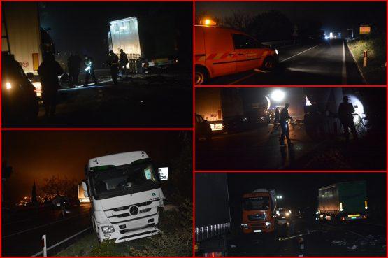 VIDEO/FOTO/TEŠKA PROMETNA NESREĆA U sudaru automobila i dvije cisterne jedna osoba smrtno stradala