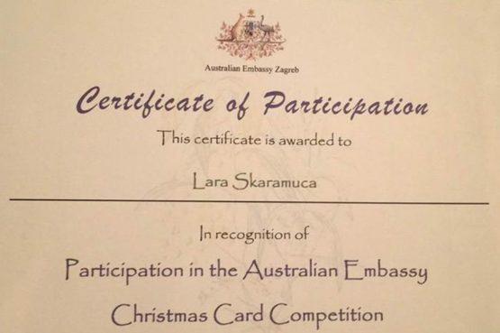 UČENICA LAPADSKE ŠKOLE Lara Skaramuca osvojila nagradu Australskog veleposlanstva