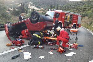 PROMETNA U ZATONU Automobil završio na krovu, jedna osoba ozlijeđena