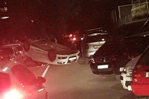 PROMETNA U MOKOŠICI Vozilo završilo na krovu, jedna osoba ozlijeđena