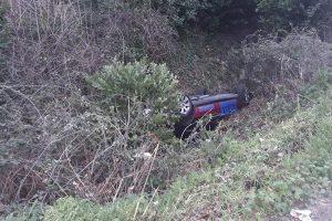 FOTO U Kuparima taksi vozilo izletjelo s ceste