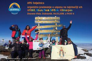 VIDEO / HPD Sniježnica poziva na predavanje o usponu na Kilimanjaro!