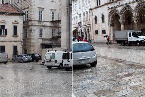 FOTO Parkiralište pred Katedralom i Dvorom