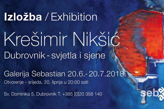 'DUBROVNIK – SVJETLA I SJENE' Večeras u galeriji Sebastijan izložba Krešimira Nikšića