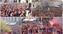 FOTO/VIDEO DUBROVNIK SLAVI Vatreni, vi ste za nas prvaci!