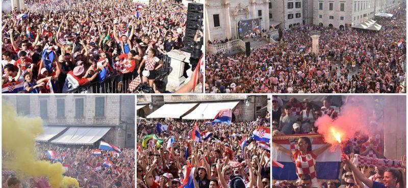 FOTO/VIDEO / DUBROVNIK SLAVI Vatreni, vi ste za nas prvaci!
