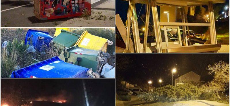 BURA NAPRAVILA KAOS Stabla prepriječila prometnice, sanira se niz požarišta, gori na Ivanici