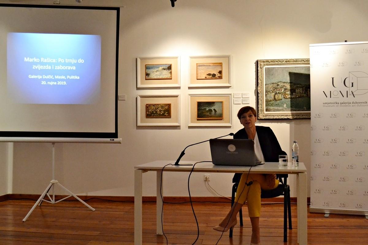 'PO TRNJU DO ZVIJEZDA I ZABORAVA' U Galeriji Dučić Masle Pulitka održano predavanje o stvaralaštvu Marka Rašice