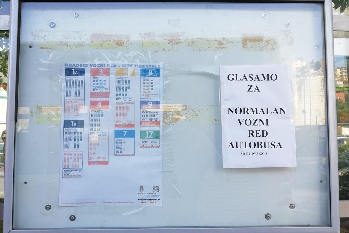 'PROSVJED' NA STANICI Glasamo za normalan vozni red autobusa (a ne ovakav)